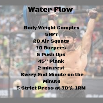 Workout of the day: Water Flow