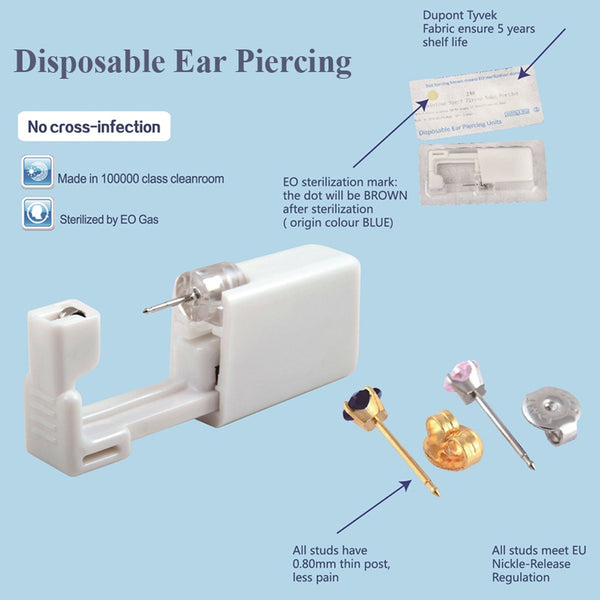 Disposable Safe Sterile Ear Stud Piercing Gun Piercer Tool Machine Kit Earring Units Piercing Jewelry