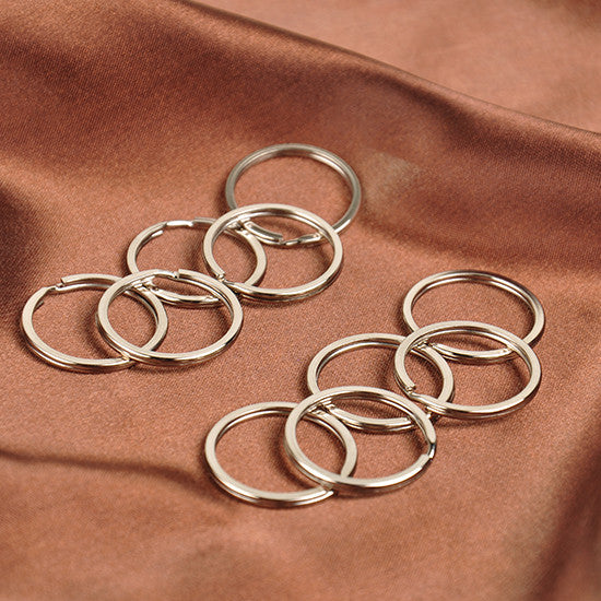 10p/SET Stainless Steel Metal Key Holder Split Rings Keyring Keychain Keyfob Accessories GM095