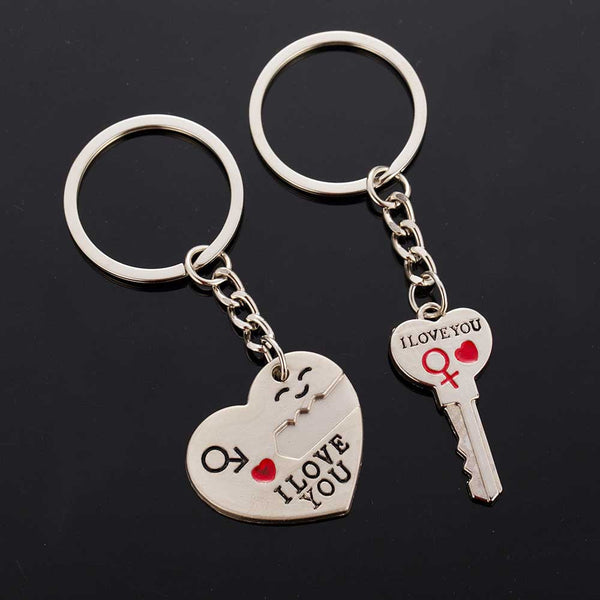 2016 New Hot Dad I love you heart-shaped keychain key chain key ring lover ring romantic creative birthday gift free shipping