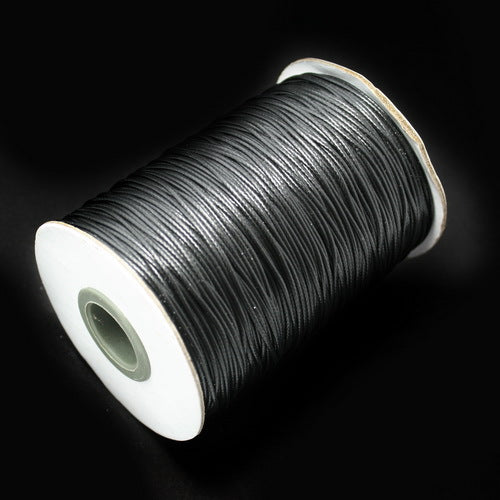Hot 15 meters 1MM Waxed Thread Cotton Cord String Strap Wholesale Necklace Rope Bead Fit for Necklace Bracelet Making