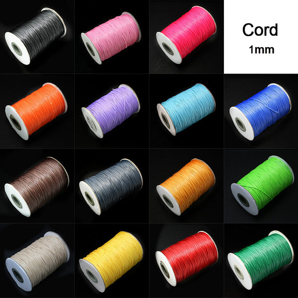 Free shpping 15 meters 1.0MM Waxed Thread Cotton Cord String Strap Wholesale Necklace Rope Bead Fit shamballa Bracelet PS-FXT007