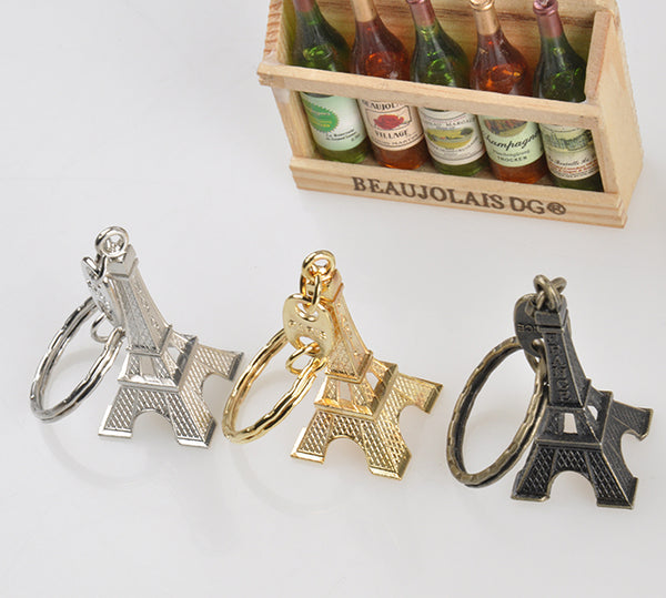 Cute Retro Mini Paris Eiffel Tower Model Keychain Keyring Keyfob Metal Ring Gift Adornment Souvenirs France Paris Keychain