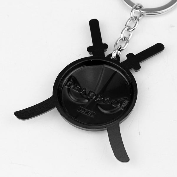 2 Styles New Deadpool keychain Dead Pool Logo Marvel Comics Alloy Metal Key chain ring key holder Movie Jewelry Souvenirs