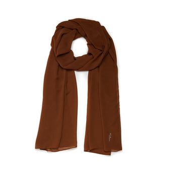 Chocolate Soft chiffon Hijab Scarf