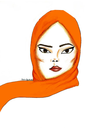 Orange Soft Chiffon Hijab Scarf