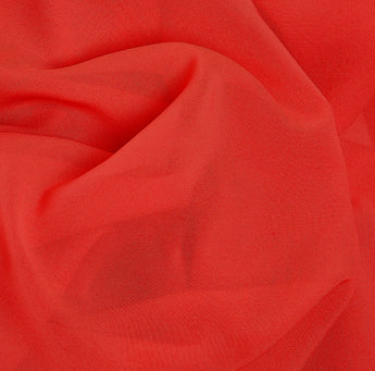Bright Red Soft Chiffon Hijab Scarf