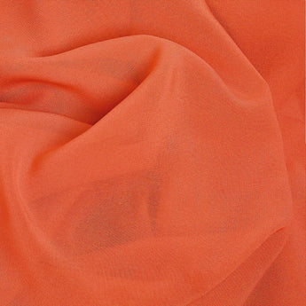 Coral Orange Soft Chiffon Hijab Scarf