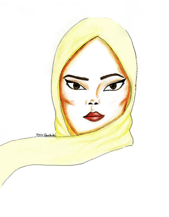 Icy Yellow Soft Chiffon Hijab Scarf