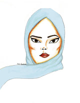 Light Blue Soft Chiffon Hijab Scarf