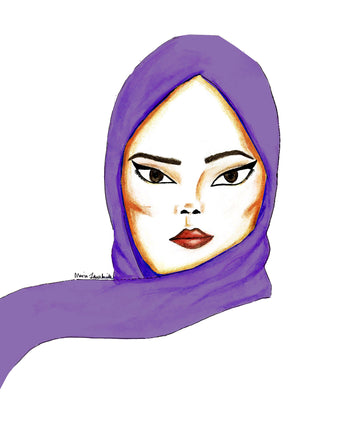 Purple Soft Chiffon Hijab Scarf