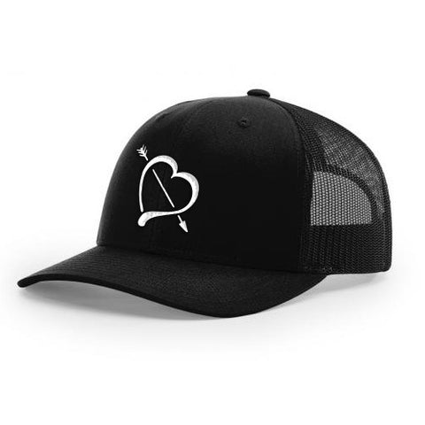 Black Mesh Back Logo Hat