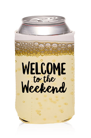 Sublimated Welcome to the Weekend Champagne Koozie