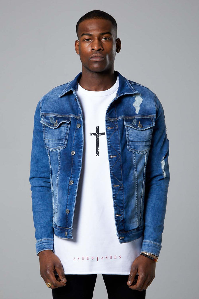 Manhattan Denim Jacket- Bluewash