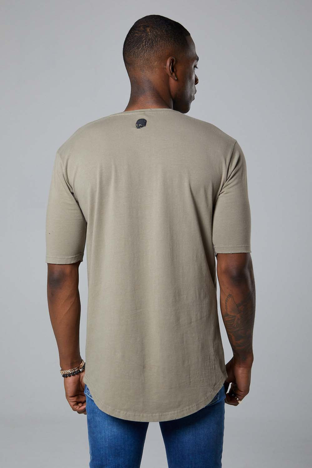 Ashes Varsity S/S tee-Khaki green