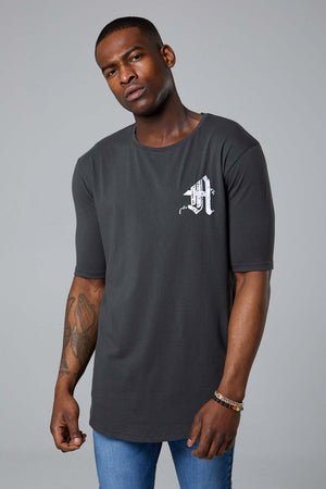 Ashes Varsity S/S tee-Charcoal