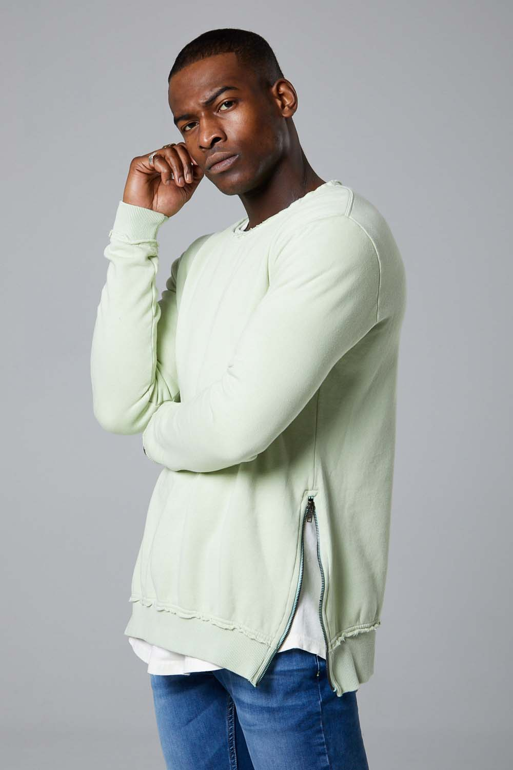 Crew Sweatshirt- Tender Greens