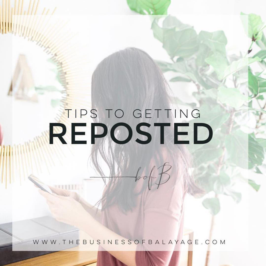 Tips to Getting Reposted