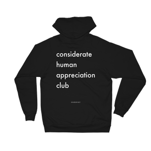 Considerate Human Appreciation Club Fleece Hoodie - The Business of Balayage - Hairstylists Education