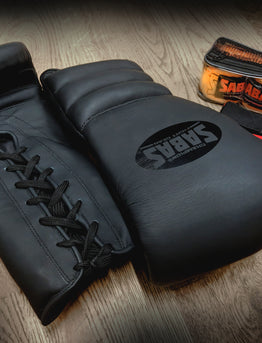 Introducing the stylish Matte Black Sabas Boxing Gloves