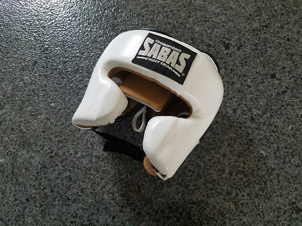 ProSeries 2.0 Headgear-Black/White | SABAS Boxing Gloves UK | SABAS FightGear