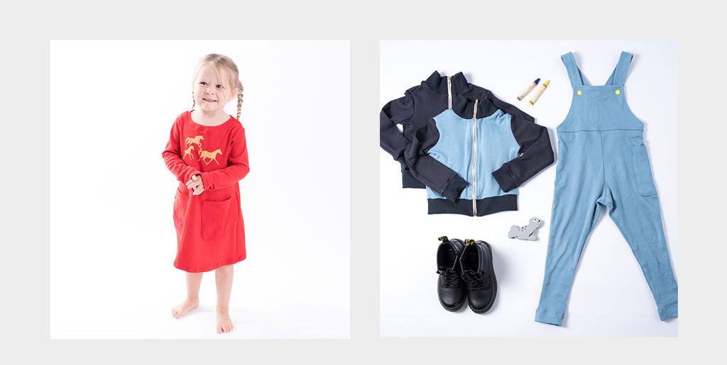 Organic Cotton Dresses and Overalls for Back to School