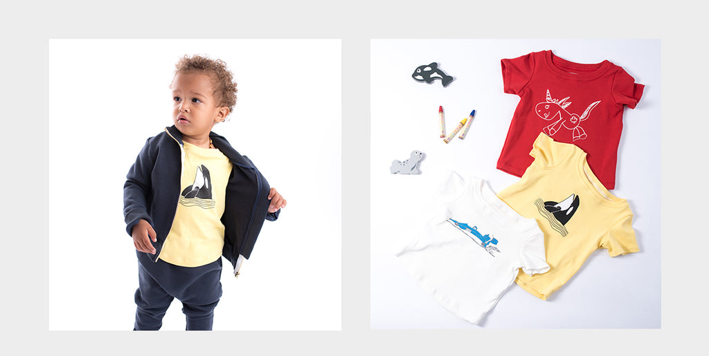 organic cotton T-shirts for back to school