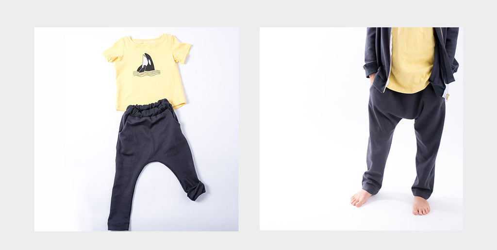 Soft and organic cotton trackpants for back to school