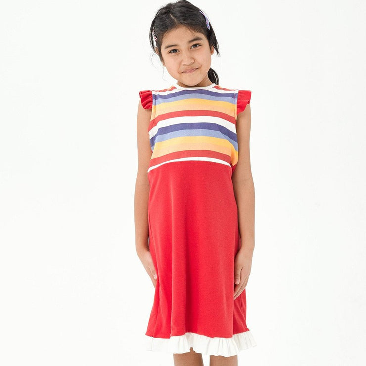 The Pinafore Rainbow Dress