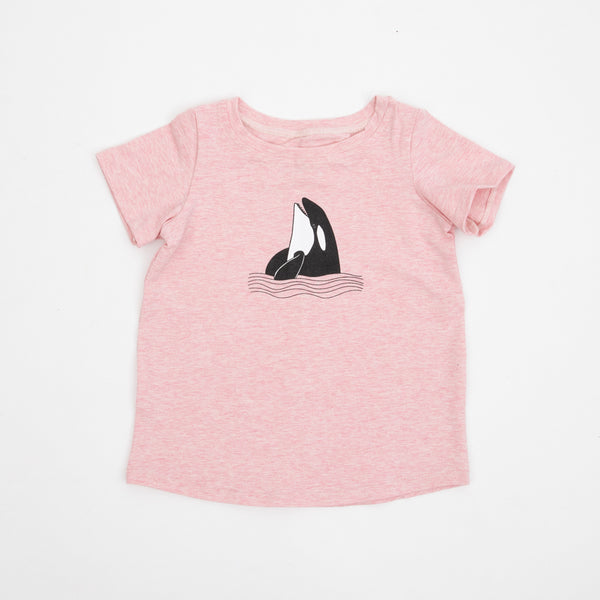 The Happy Orca T-shirt Pink