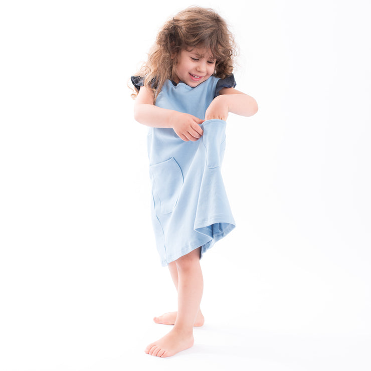 The Blue Pinafore Pocket Dress