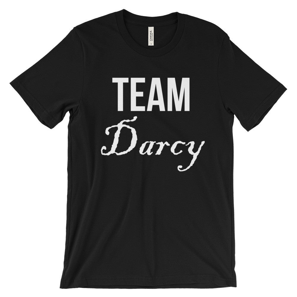 Team Darcy Jane Austen Pride & Prejudice Tee Unisex Short Sleeve T-Shirt - EverFresh Designs