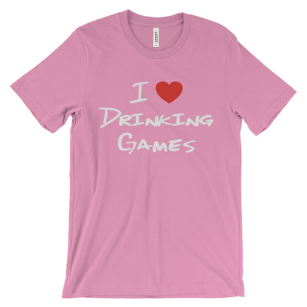I Love Drinking Games Funny Bar Party College Unisex Short Sleeve T-Shirt - EverFresh Designs