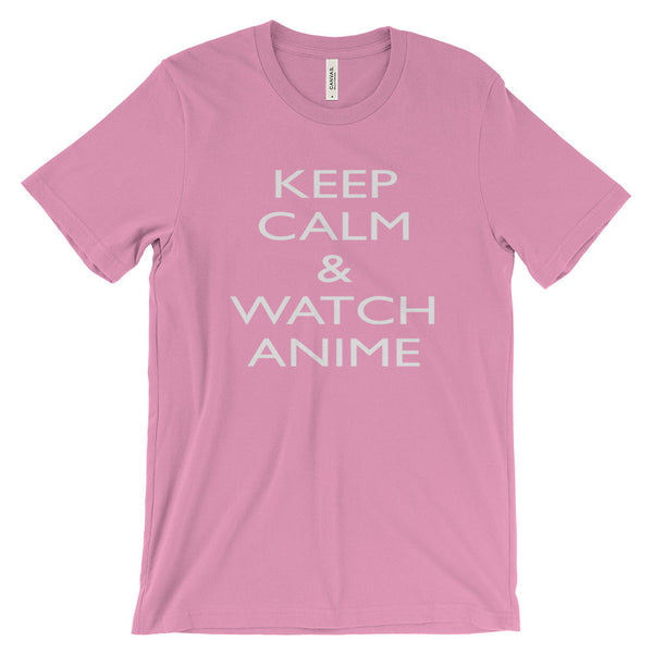 Keep Calm Watch Anime Funny Saying Quote Unisex Short Sleeve T-Shirt - EverFresh Designs
