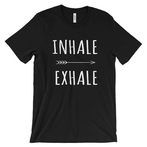 Inhale Exhale Yoga Breathing Meditation Mindfulness Unisex Short Sleeve T-Shirt - EverFresh Designs