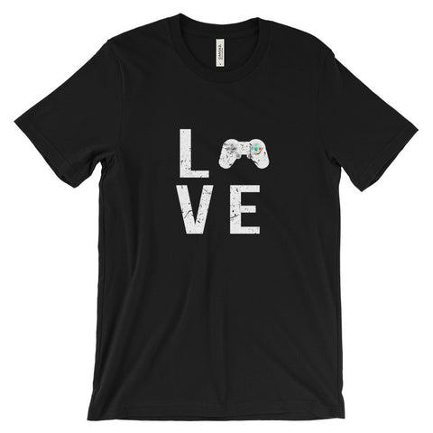 Love Video Games Controller Gaming Gamer Unisex Short Sleeve T-Shirt - EverFresh Designs