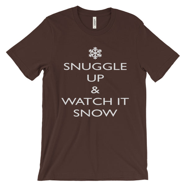 Snuggle Up and Watch It Snow Winter Season Lovers Unisex Short Sleeve T-Shirt - EverFresh Designs