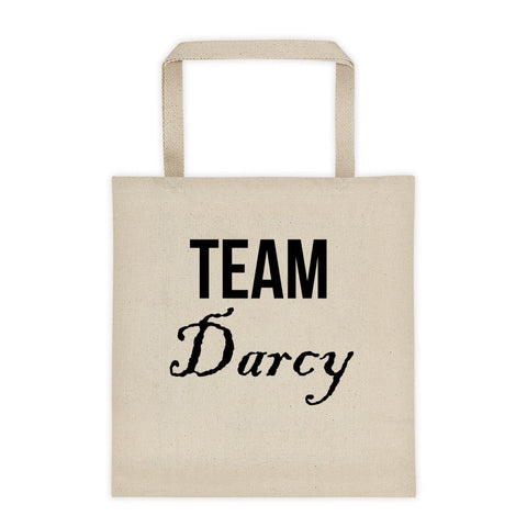 Team Darcy Jane Austen Pride & Prejudice Tote Bag - EverFresh Designs