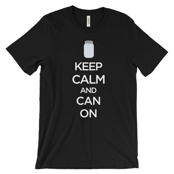 Keep Calm and Can On Canning Preserving Unisex Short Sleeve T-Shirt - EverFresh Designs
