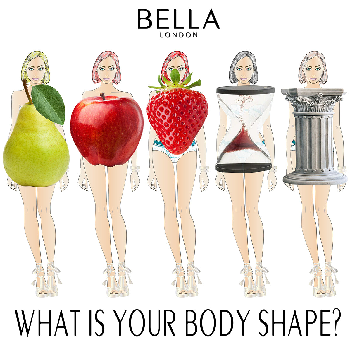 Bella London What Is Your Body Shape? Pear Apple Strawberry Hourglass Column