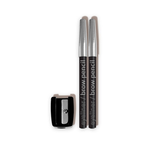 Eyeliner/Brow Pencils w/ Sharpener - CBPN222 Black