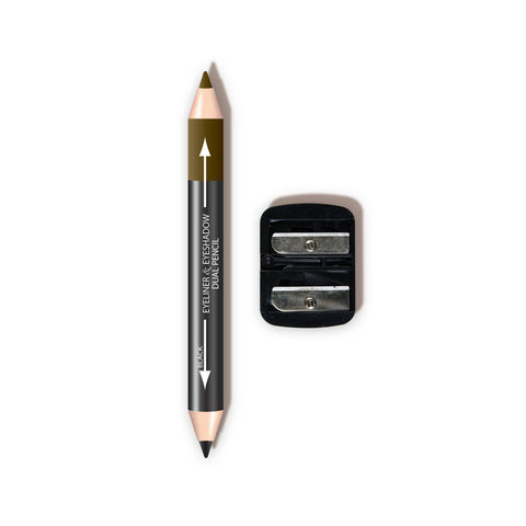 Dual Liner & Shadow Pencil w/ Sharpener - CBPN921 Coffee