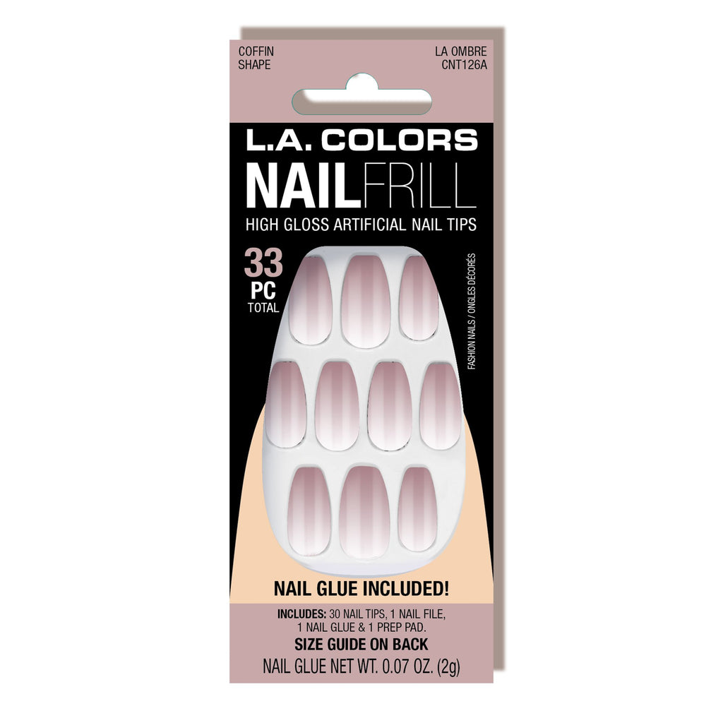 Nail Frill Artificial Nail Tip (carded)