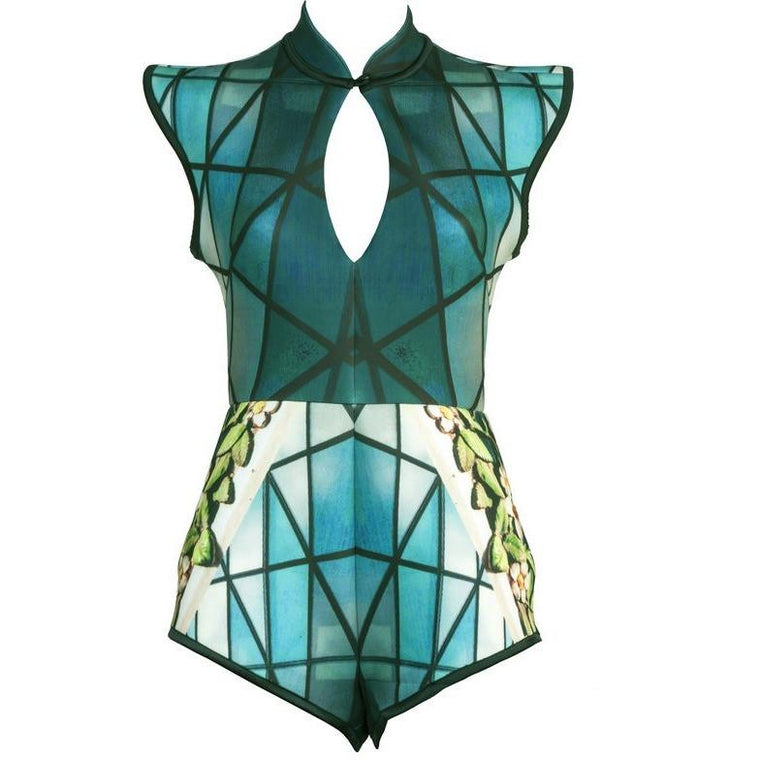 Bodysuit - Teal Terracotta Playsuit