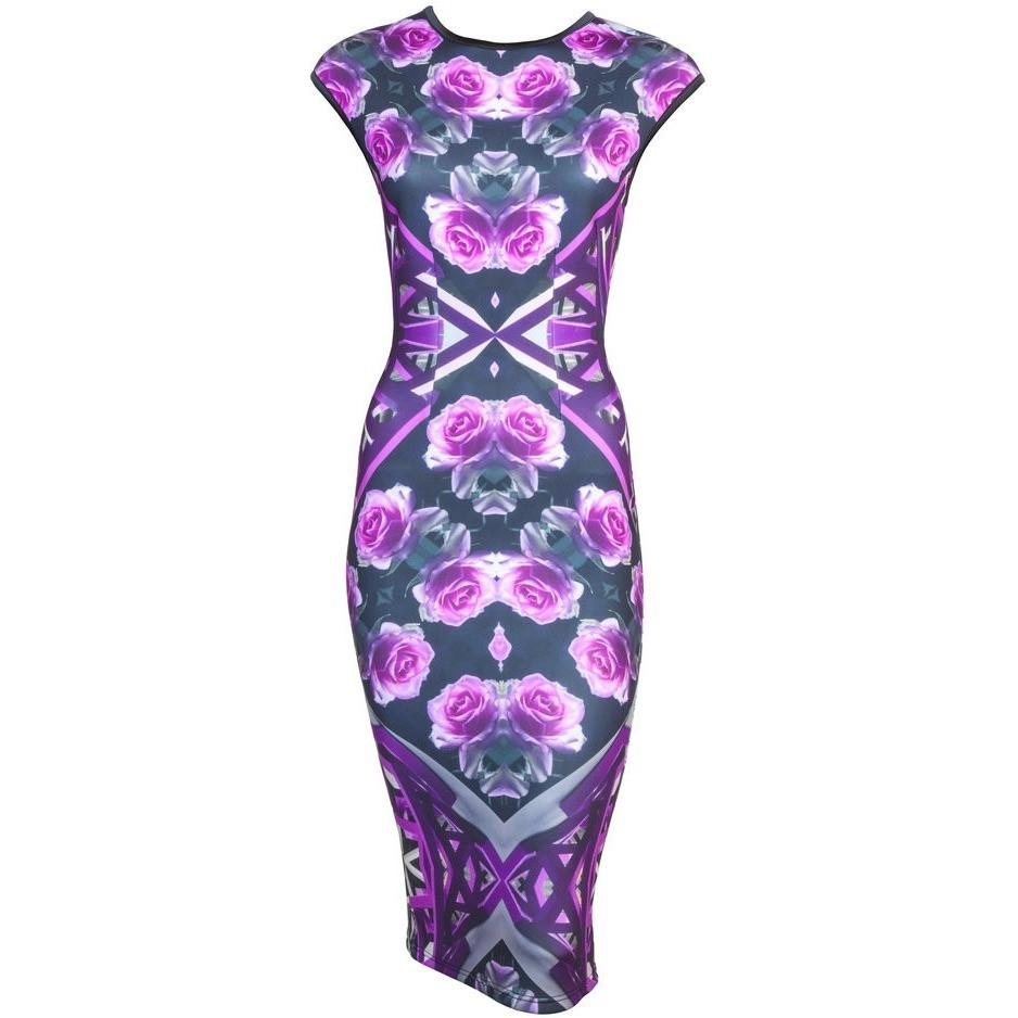 Salvia Midi Bodycon Dress - Petriiski