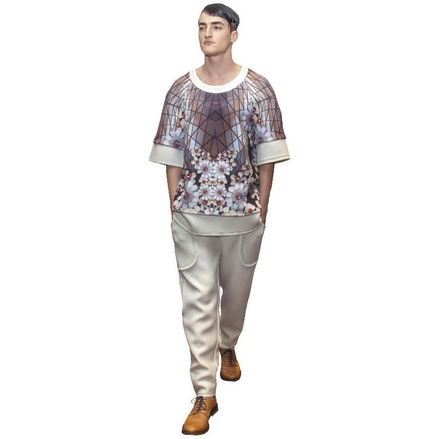 Oversize Cherry Blossom Men Top - Petriiski
