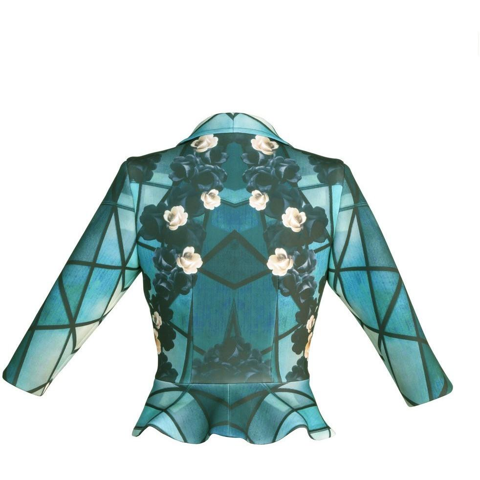 Teal Blush Rose Jacket - Petriiski