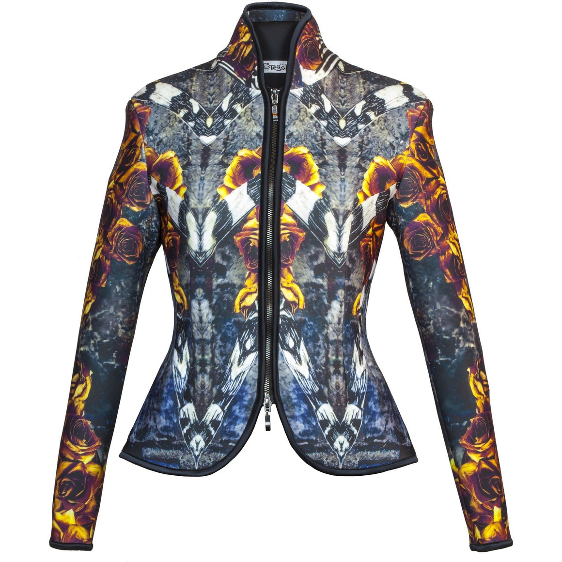 Tailored Women Jacket - Fire Rose Tailored Jacket