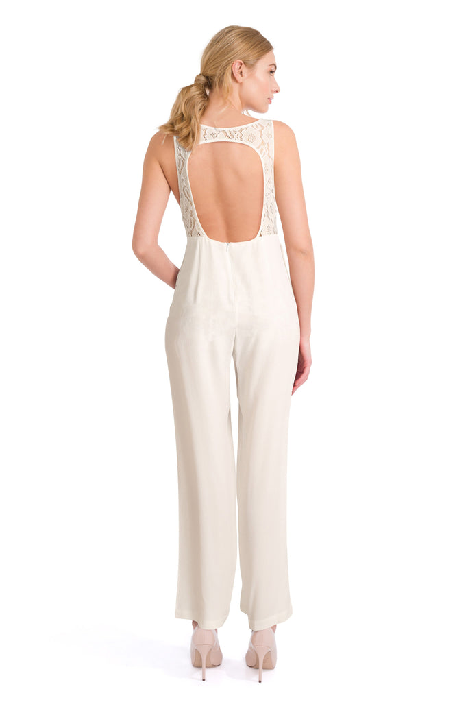White Party Dress - Chloe  White Jumpsuit