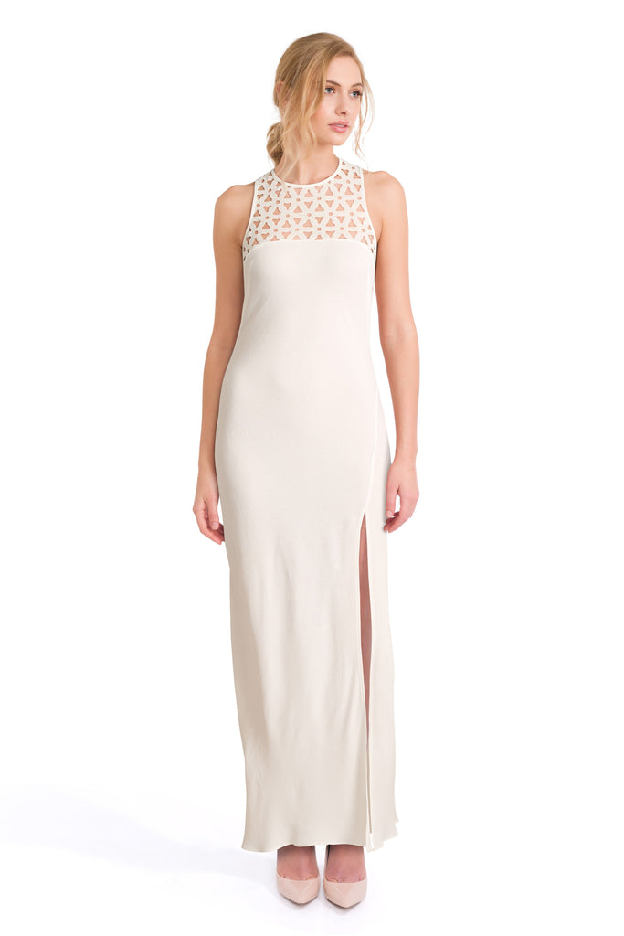 Rose white maxi dress - Petriiski